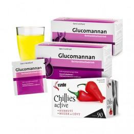 Mršavljenje: 2x Glukomanan napitak za mršavljenje + Chilli Active, komplet