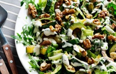 LCHF salata s tikvicama i orasima