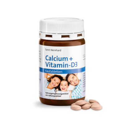 Kalcij + vitamin D3, 150 tableta za žvakanje