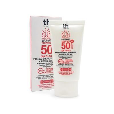 Dječja krema za sunčanje za atopičnu kožu lica SPF 50+