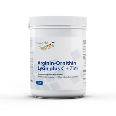 Arginin + ornitin + lizin s vitaminom C i cinkom